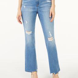 Scoop Women's Cut Hem Crop Flare Jeans - Walmart.com | Walmart (US)
