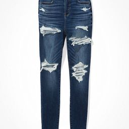 AE Ne(x)t Level Ripped Curvy High-Waisted Jegging   American Eagle Outfitters (US & CA)