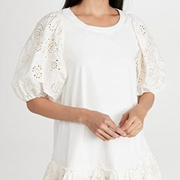 Embroidered Puff Sleeve Shirtdress   Shopbop