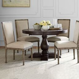 Lorraine Round Pedestal Extending Dining Table | Pottery Barn (US)