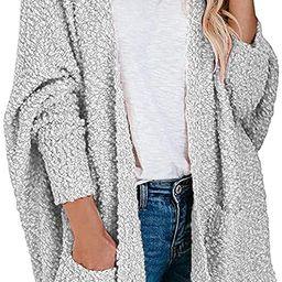 ANRABESS Womens Fuzzy Chunky Cardigan Popcorn Oversized Sherpa Slouchy Open Sweater Coat A230huis...   Amazon (US)