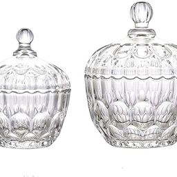Maypink Crystal Jar with Crystal Lid Suitable as A Candy Dish Cookie Tin Biscuit Barrel Decorativ... | Amazon (US)