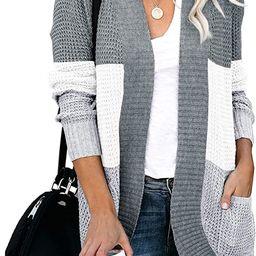Saodimallsu Womens Loose Open Front Cardigan Long Sleeve Casual Lightweight Soft Knit Sweaters Co... | Amazon (US)