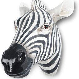Polyresin faux Zebra head wall hanging, handmade wall charmers for farm house, animal head home &... | Amazon (US)