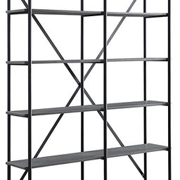 Acme Furniture Rukia Bookshelf, Gray and Black | Amazon (US)