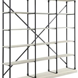 Acme Furniture Rukia Bookshelf, White and Black | Amazon (US)