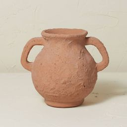 """7"""" x 8.5"""" Terracotta Vase with Handle Brown Clay - Opalhouse™ designed with Jungalow™   Target"""