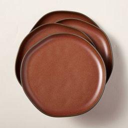 Stoneware Exposed Rim Dessert Plate Cinnamon - Hearth & Hand™ with Magnolia   Target