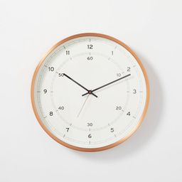 """16"""" Copper Finish Analog Wall Clock - Hearth & Hand™ with Magnolia   Target"""
