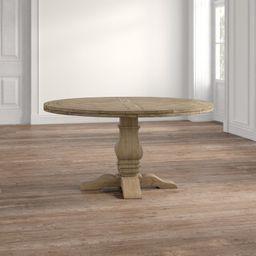 Cheatham 59.75'' Solid Wood Pedestal Dining Table | Wayfair North America