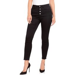 Women's Jordache Maria Button Fly Skinny Jeans, Size: 8, Black | Kohl's