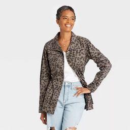 Women's Jacket - Knox Rose™ Gray Leopard Print   Target