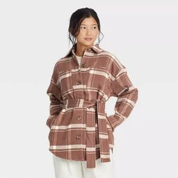 Women's Belted Shirt Jacket - A New Day™   Target