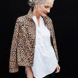 Animal-Print Denim Jacket | Chico's