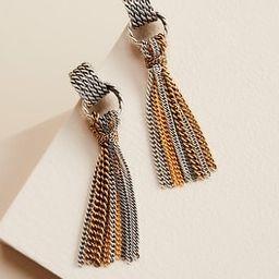 Mixed-Metal Tassel Earrings | Chico's