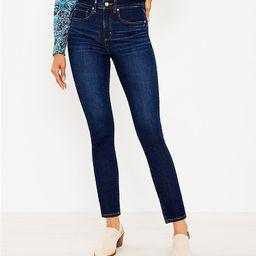 Mid Rise Skinny Jeans in Classic Dark Indigo Wash   LOFT