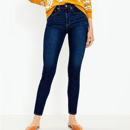 High Rise Skinny Jeans in Classic Dark Indigo Wash | LOFT