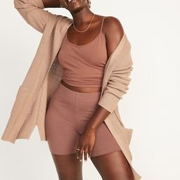 Textured Shaker-Stitch Long-Line Open-Front Sweater for Women | Old Navy (US)