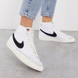 Nike Blazer Mid '77 VNTG sneakers in white and black | ASOS (Global)