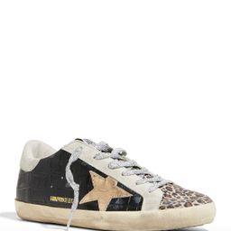 Golden Goose Super Star Croc & Leopard-Print Low-Top Sneakers | Neiman Marcus