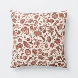 Floral Printed Throw Pillow Rust/Cream - Threshold™ designed with Studio McGee   Target