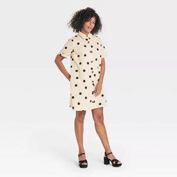 Women's Short Sleeve Button-Up Trapeze Dress - Who What Wear™   Target