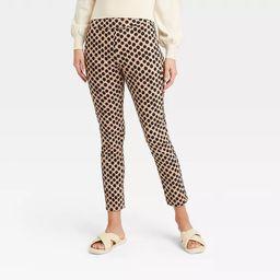Women's Polka Dot Skinny Cropped Pants - Who What Wear™ Cream   Target