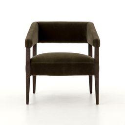 Gary Club Chair in Olive Green – BURKE DECOR | Burke Decor