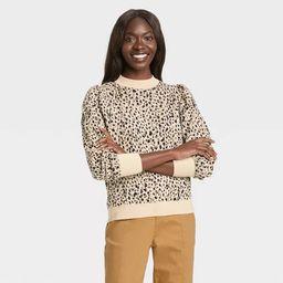 Women's Polka Dot Mock Turtleneck Pullover Sweater - Who What Wear™ | Target