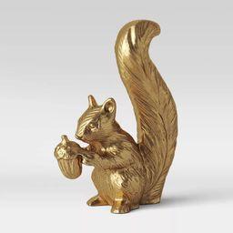 "6.2"" x 4.6"" Standing Harvest Squirrel Figurine Gold - Threshold™ | Target"