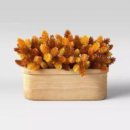 "9"" x 13"" Artificial Long Hopps Plant Arrangement in Wood Pot - Threshold™ | Target"