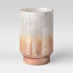 "9"" x 6"" Glass/Tin Hurricane Candle Holder Gold - Threshold™ | Target"
