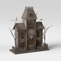 "15"" x 5"" Halloween House Countdown Advent Calendar Black - Threshold™ | Target"