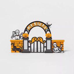 Mini Mantel Wood Cemetery Halloween Decorative Prop - Hyde & EEK! Boutique™ | Target