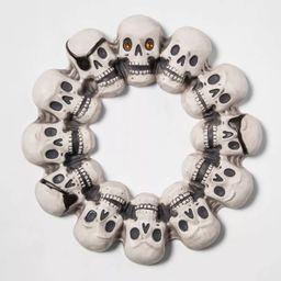 "16"" Skull with Jewel Eye Halloween Wreath - Hyde & EEK! Boutique™ | Target"
