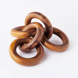 "2.5"" x 17"" Decorative Teak Wood Chain Figurine - Threshold™ designed with Studio McGee   Target"
