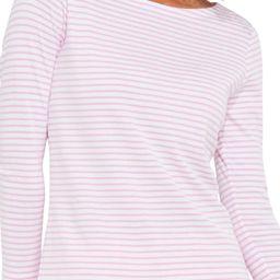 Stripe Simple Boatneck Cotton Blend Top | Nordstrom