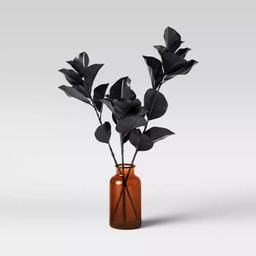 "20"" x 16"" Artificial Blackened Eucalyptus Plant Arrangement in Glass Pot - Threshold™ | Target"