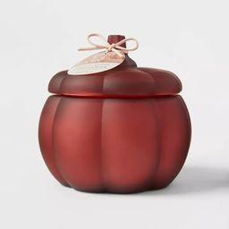 Large Pumpkin Warm Cider and Cinnamon Red Marsala Candle - Threshold™ | Target