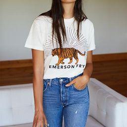 Tiger T-Shirt - Ivory   Emerson Fry