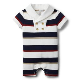 Baby Striped Rugby Romper | Janie and Jack