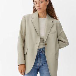 Oversized Leather Blazer                         £290 | ARKET