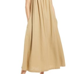 Flowy Linen Blend Shift Dress | Nordstrom