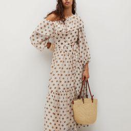 Polka-dot dress with ruffles   MANGO (US)