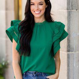 Leann Top- Emerald   Avara
