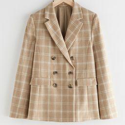 Wool Blend Plaid Blazer | & Other Stories