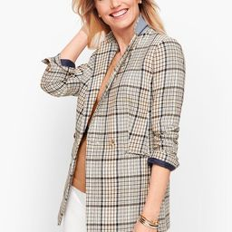 Double Breasted Plaid Blazer | Talbots