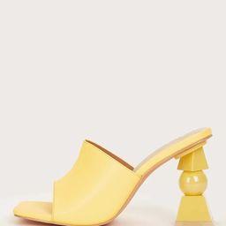 Sculptural Heeled Open Toe Mules | SHEIN