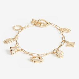 Paperclip Chain Charm Bracelet | Express