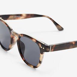 Tortoiseshell Round Frame Sunglasses | Express